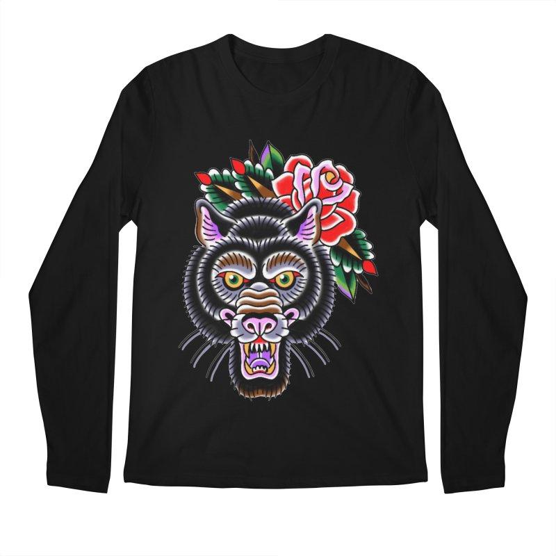 Wolf Men's Regular Longsleeve T-Shirt by Studio 617's Artist Shop