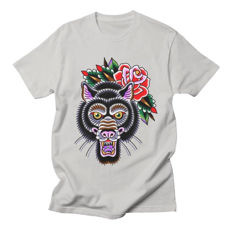 Wolf Men's Regular T-Shirt by Studio 617's Artist Shop
