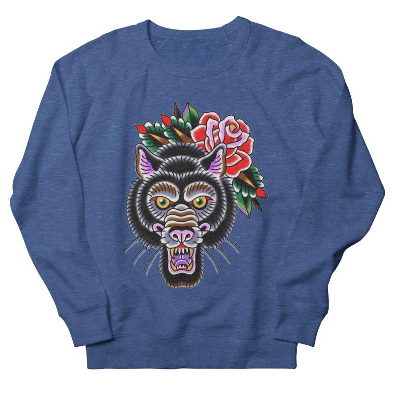 Wolf Women's French Terry Sweatshirt by Studio 617's Artist Shop