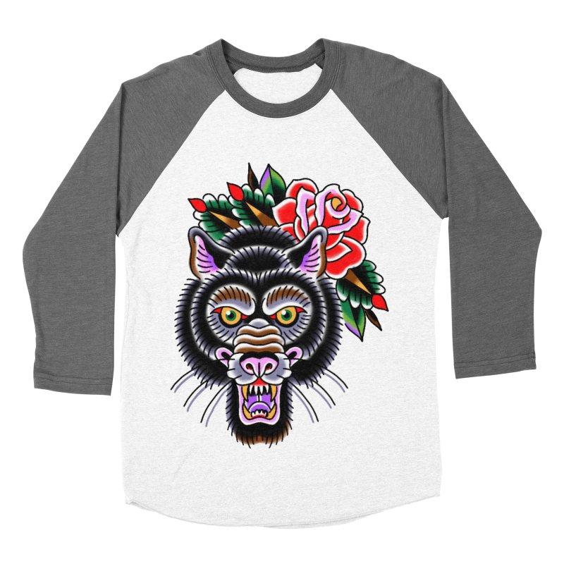 Wolf Men's Baseball Triblend Longsleeve T-Shirt by Studio 617's Artist Shop