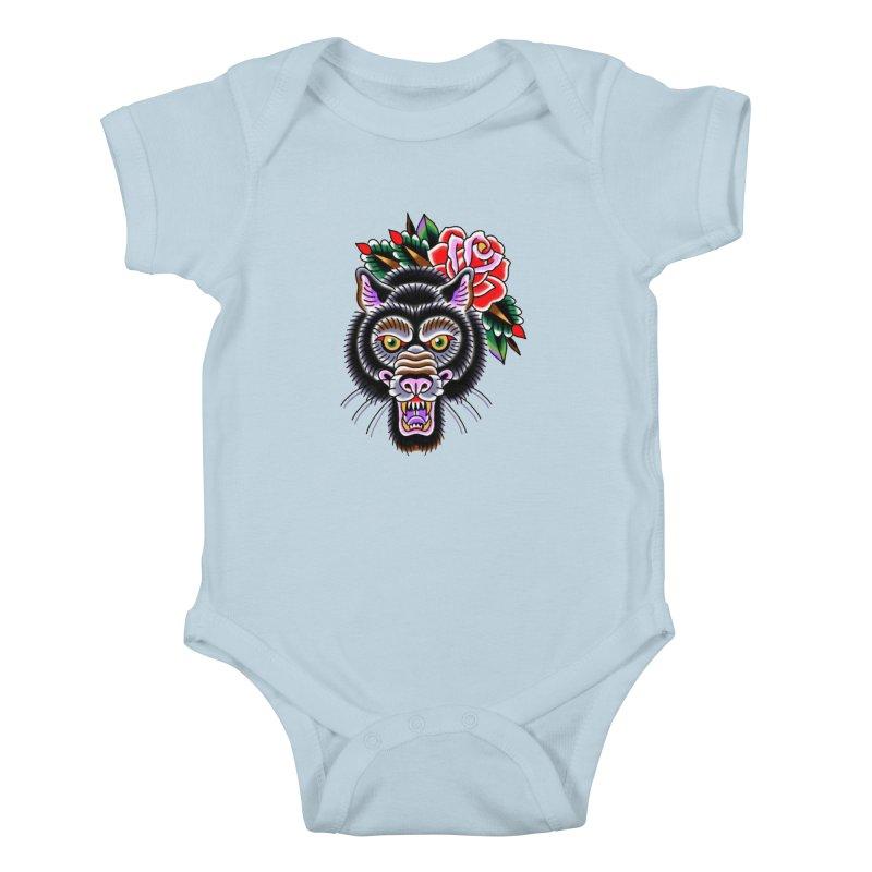 Wolf Kids Baby Bodysuit by Studio 617's Artist Shop