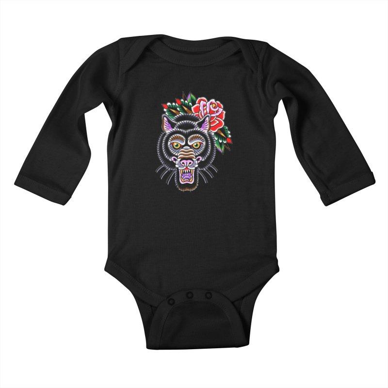 Wolf Kids Baby Longsleeve Bodysuit by Studio 617's Artist Shop