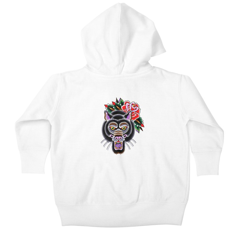 Wolf Kids Baby Zip-Up Hoody by Studio 617's Artist Shop