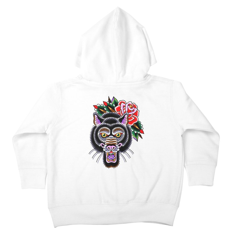Wolf Kids Toddler Zip-Up Hoody by Studio 617's Artist Shop