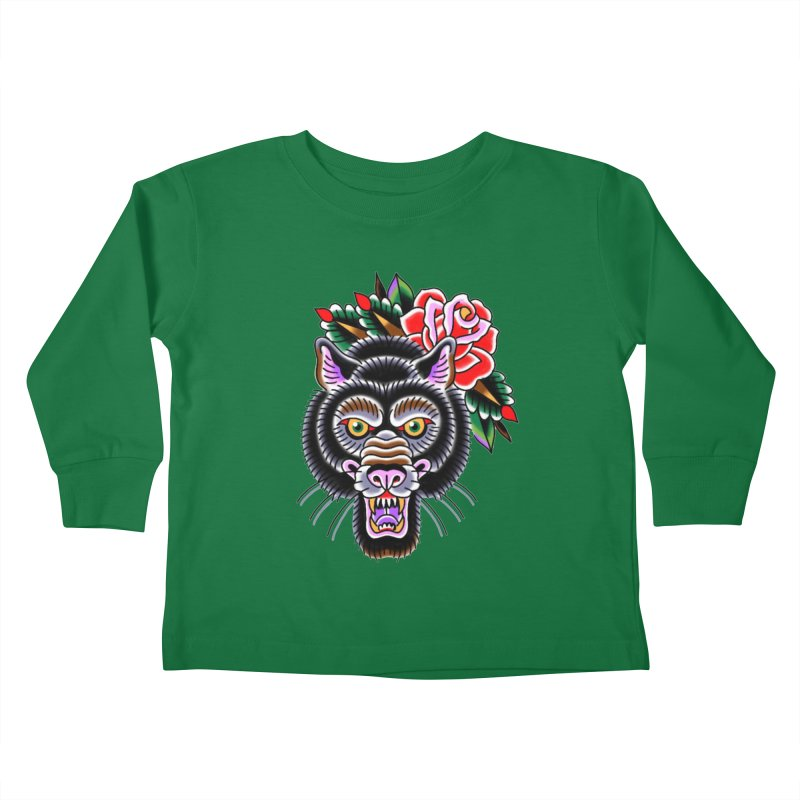 Wolf Kids Toddler Longsleeve T-Shirt by Studio 617's Artist Shop