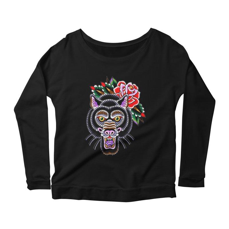 Wolf Women's Scoop Neck Longsleeve T-Shirt by Studio 617's Artist Shop