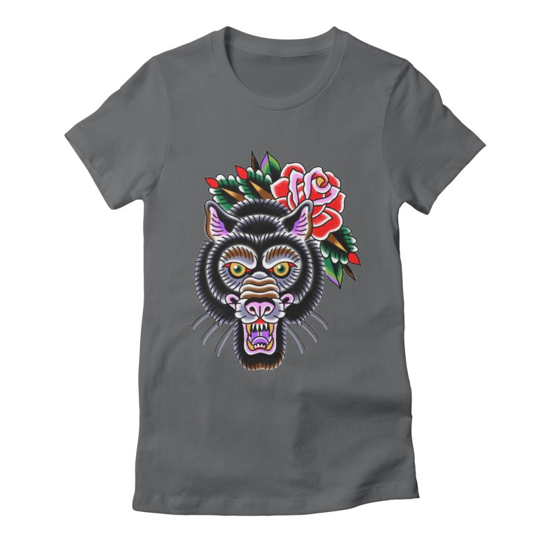 Wolf Women's Fitted T-Shirt by Studio 617's Artist Shop