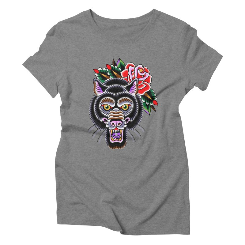 Wolf Women's Triblend T-Shirt by Studio 617's Artist Shop