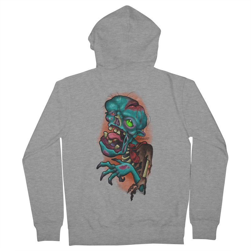 Zomboy Women's French Terry Zip-Up Hoody by Studio 617's Artist Shop