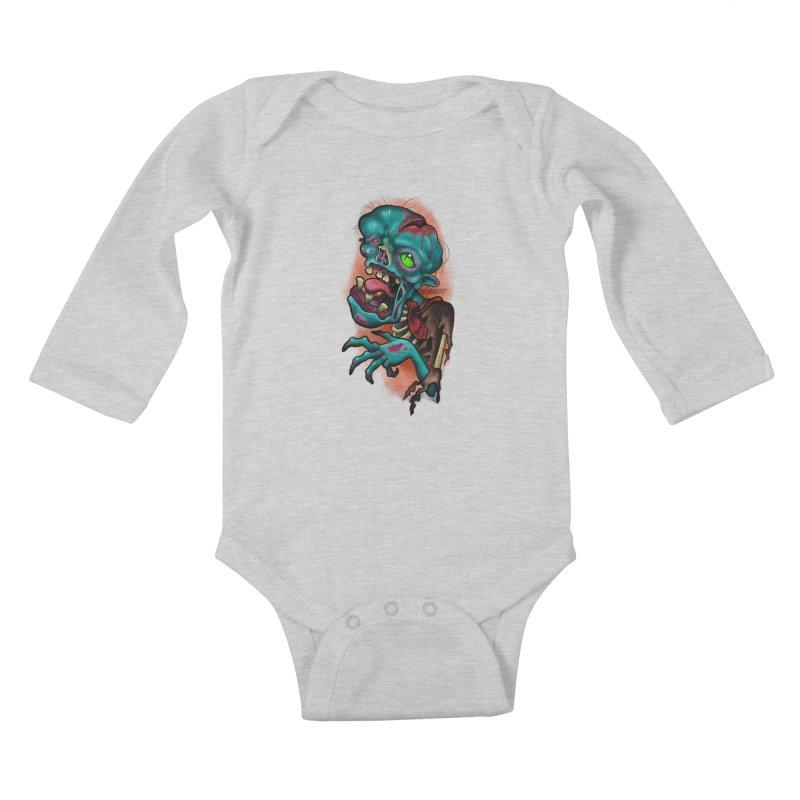 Zomboy Kids Baby Longsleeve Bodysuit by Studio 617's Artist Shop