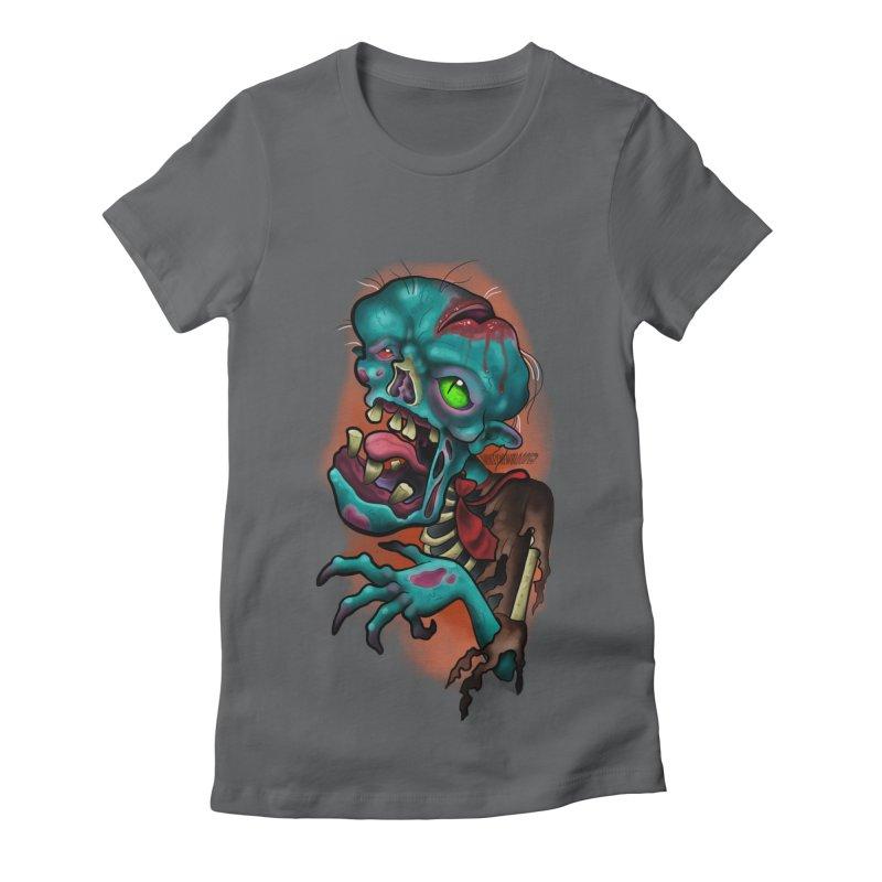 Zomboy Women's Fitted T-Shirt by Studio 617's Artist Shop