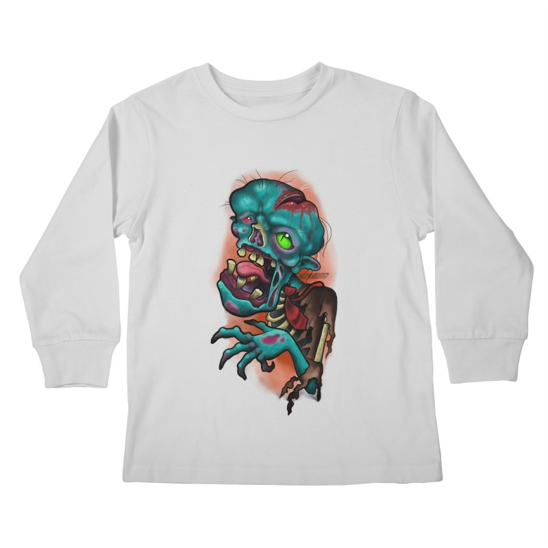 Zomboy Kids Longsleeve T-Shirt by Studio 617's Artist Shop