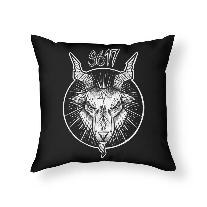 Baphomet Home Throw Pillow by Studio 617 Tattoos