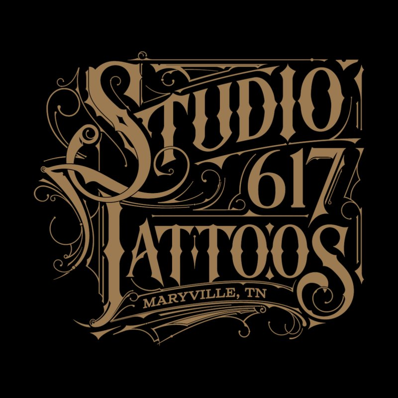 Studio 617 Logo Copper Women's Zip-Up Hoody by Studio 617 Tattoos