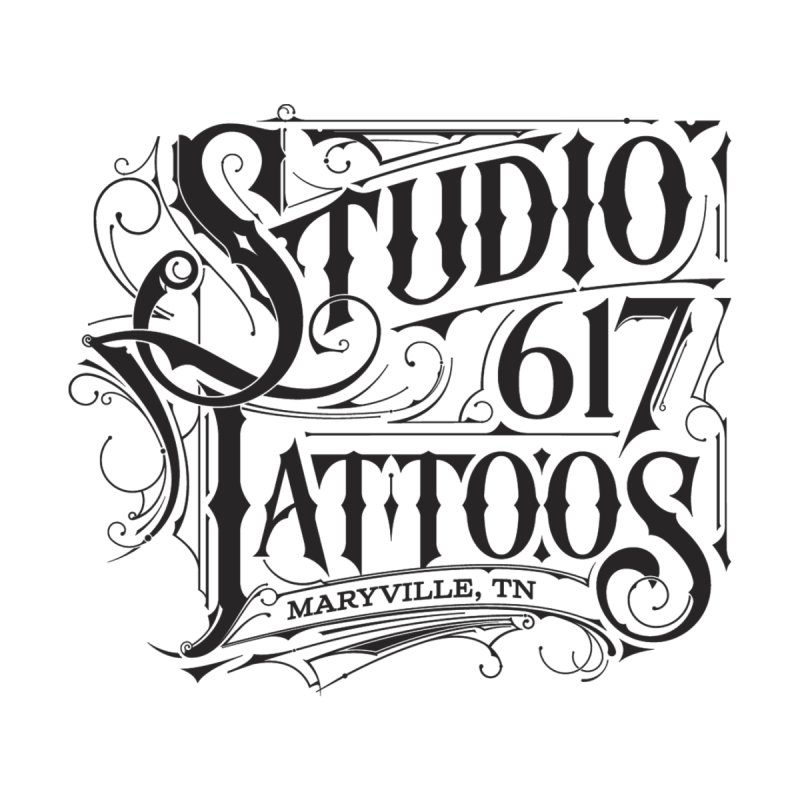 Studio 617 Logo Black Women's Pullover Hoody by Studio 617 Tattoos