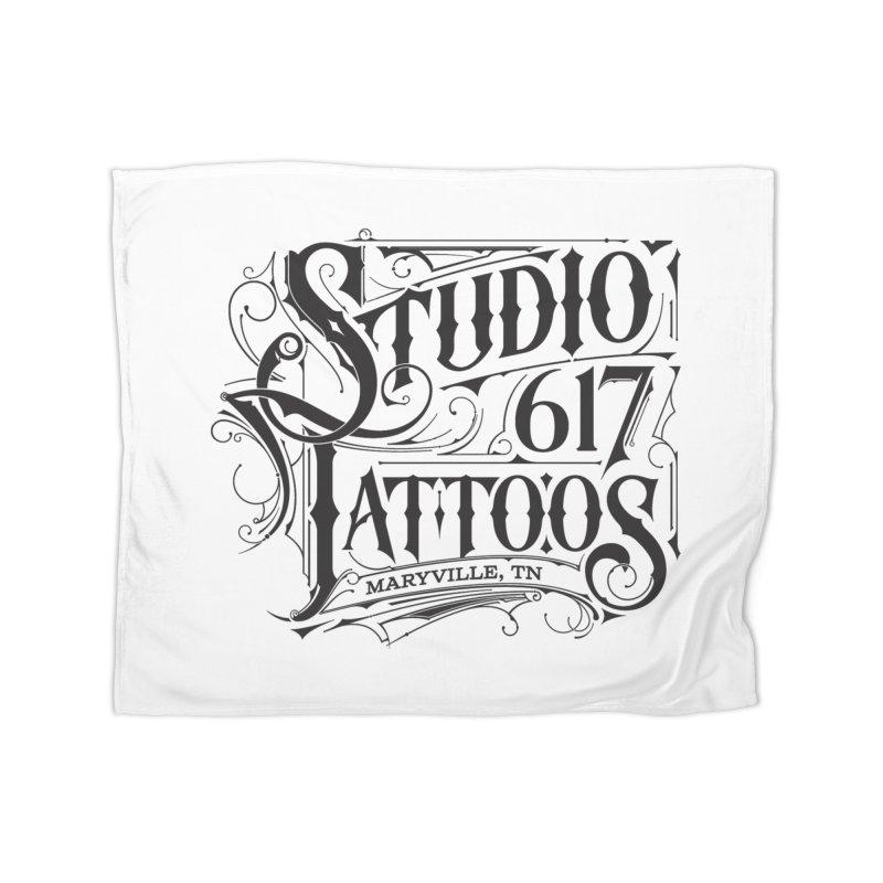 Studio 617 Logo Black Home Blanket by Studio 617 Tattoos