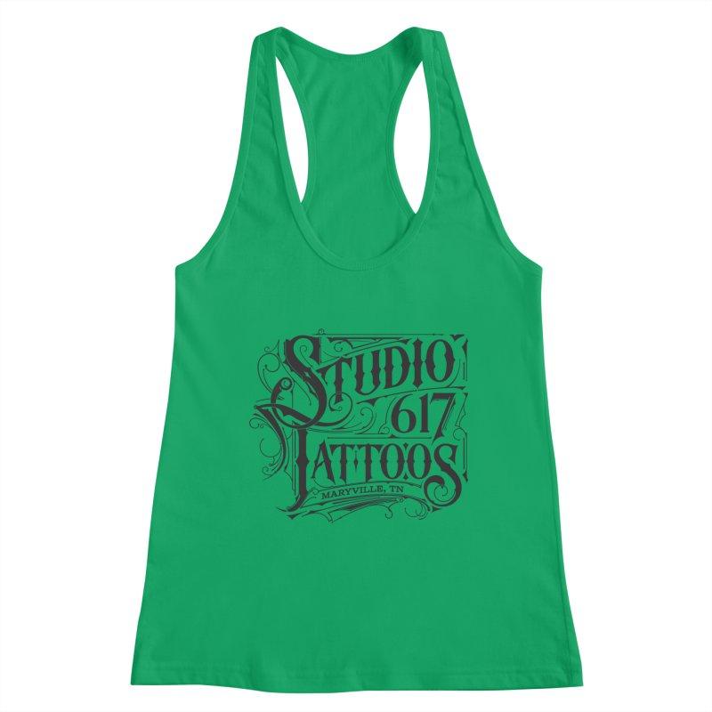 Studio 617 Logo Black Women's Tank by Studio 617 Tattoos