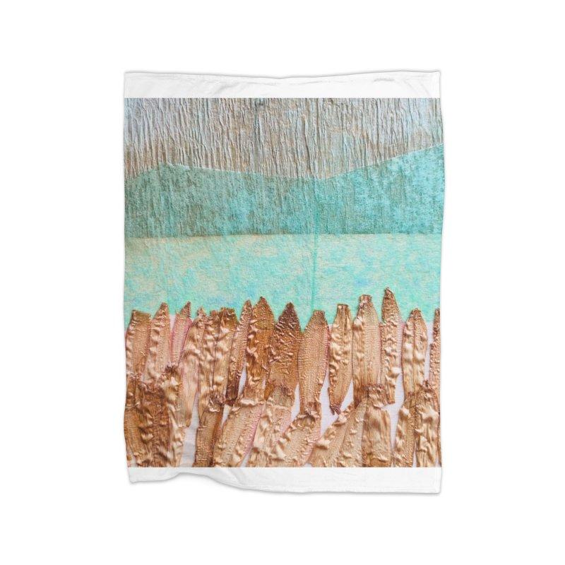 Plateau Home Fleece Blanket Blanket by Studio Art 101's Art Shop