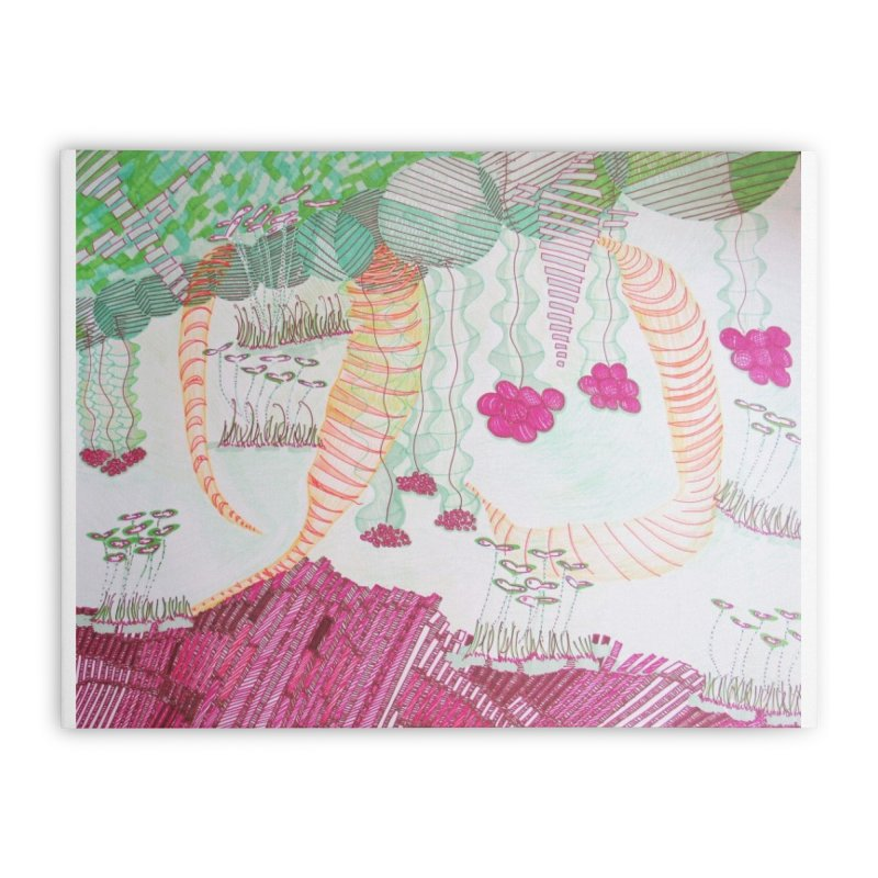 Caterpillar World Home Stretched Canvas by Studio Art 101's Art Shop
