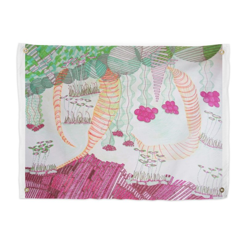 Caterpillar World Home Tapestry by Studio Art 101's Art Shop