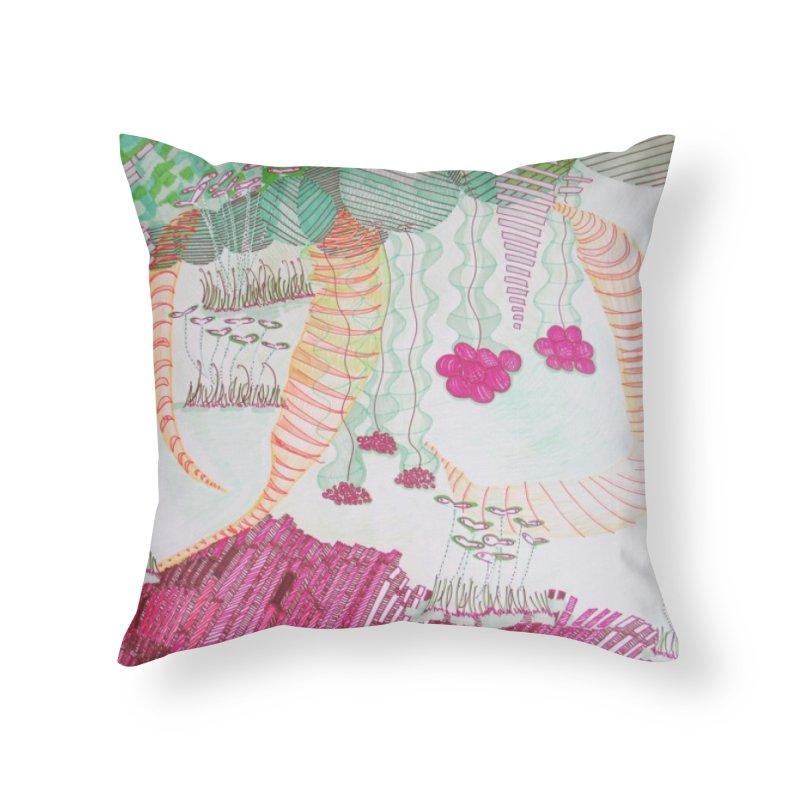 Caterpillar World Home Throw Pillow by Studio Art 101's Art Shop