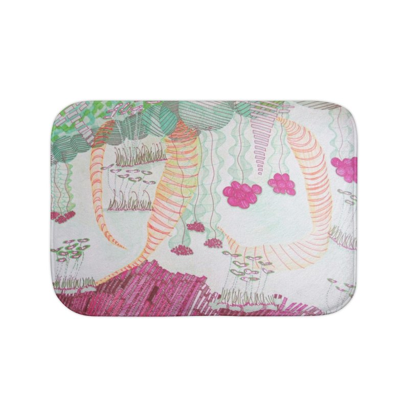 Caterpillar World Home Bath Mat by Studio Art 101's Art Shop