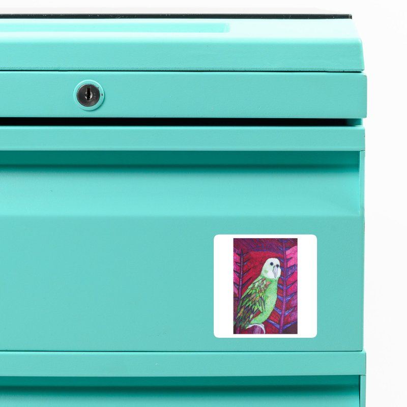 Michael the Parrot Accessories Magnet by Studio Art 101's Art Shop