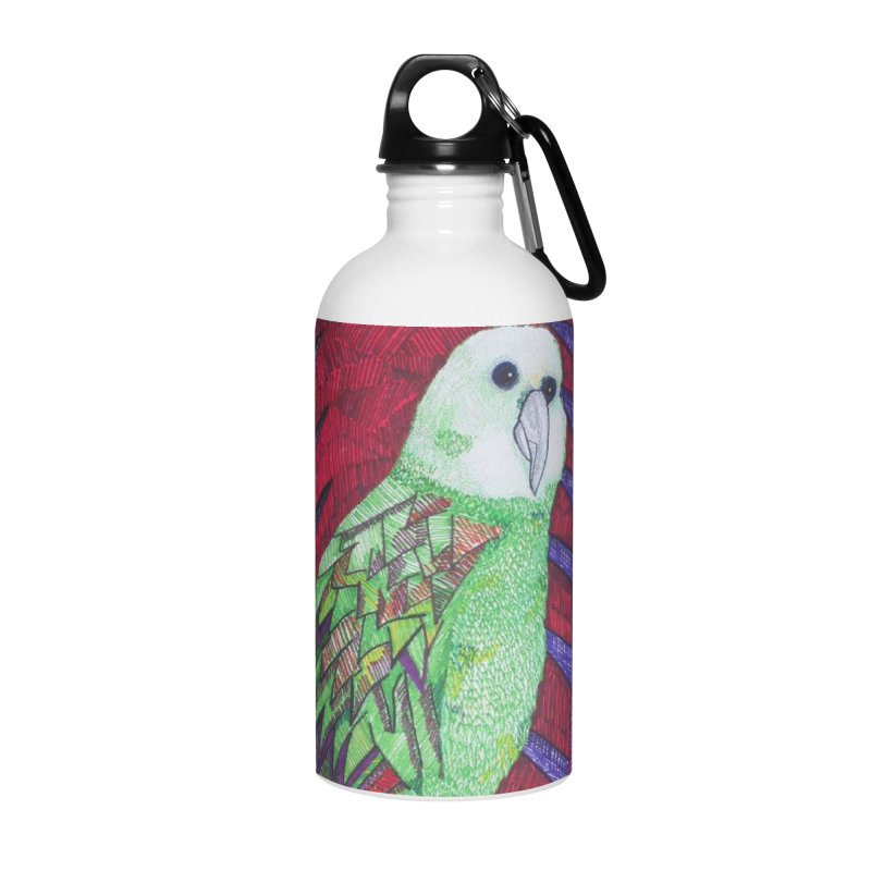 Michael the Parrot Accessories Water Bottle by Studio Art 101's Art Shop