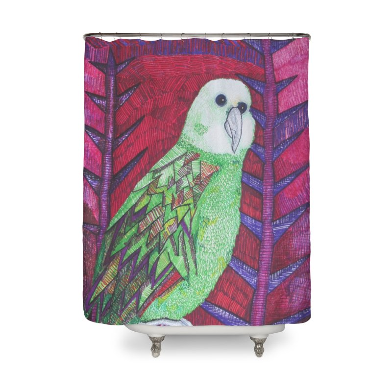 Michael the Parrot Home Shower Curtain by Studio Art 101's Art Shop
