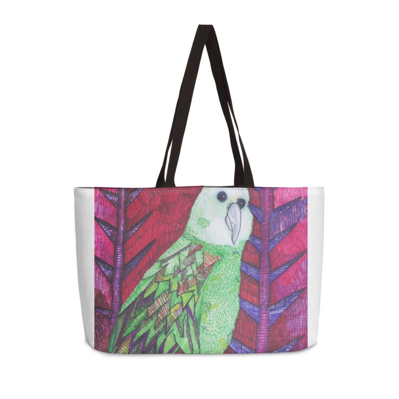 Michael the Parrot Accessories Weekender Bag Bag by Studio Art 101's Art Shop