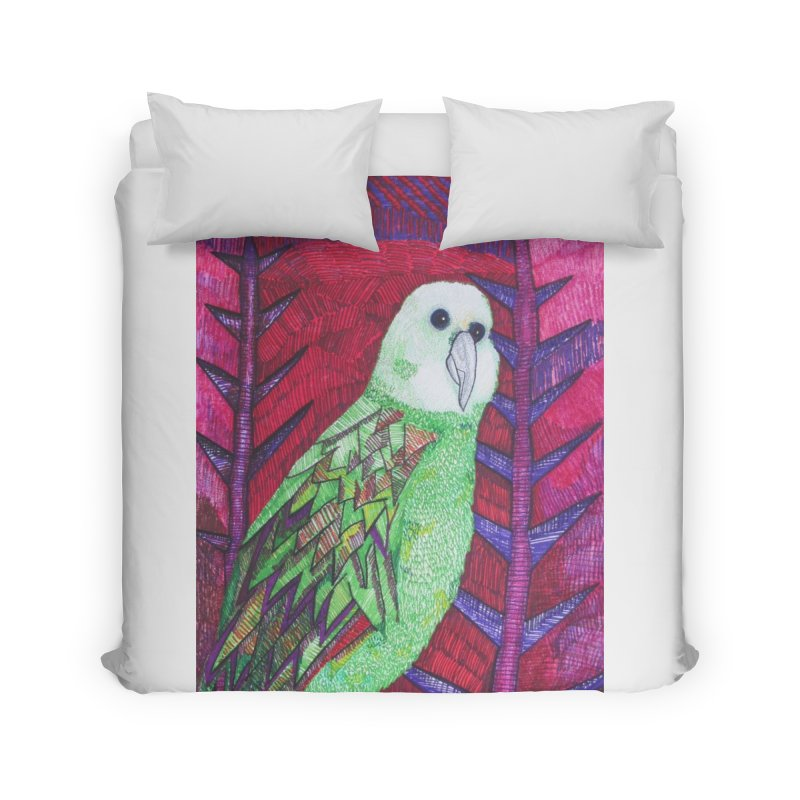 Michael the Parrot Home Duvet by Studio Art 101's Art Shop