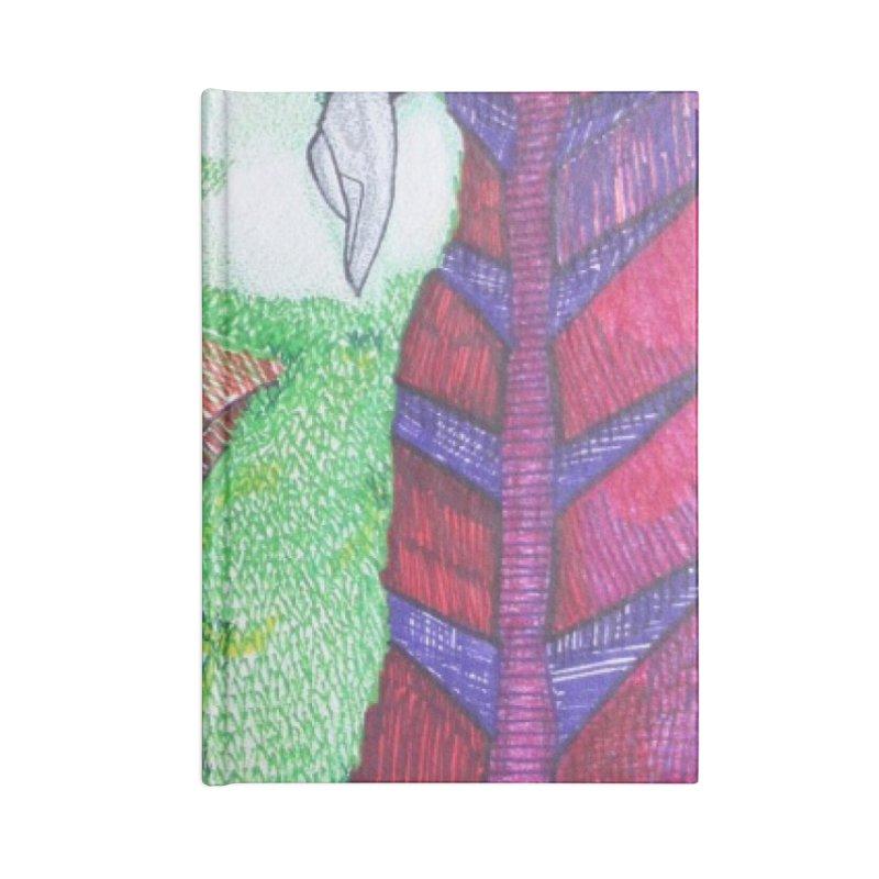 Michael the Parrot Accessories Lined Journal Notebook by Studio Art 101's Art Shop