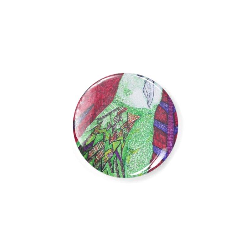 Michael the Parrot Accessories Button by Studio Art 101's Art Shop