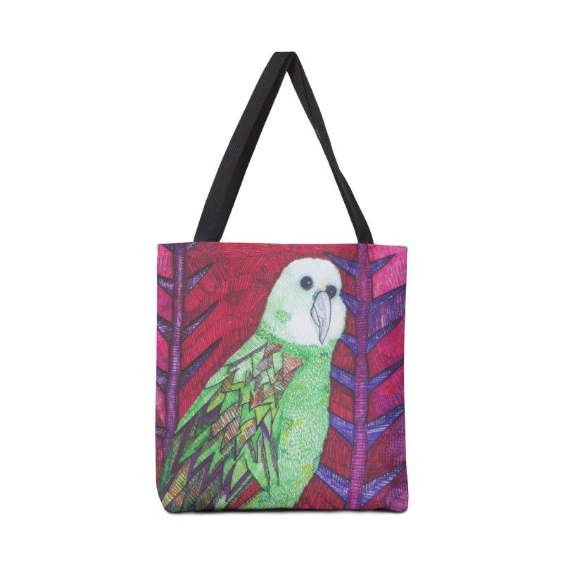 Michael the Parrot Accessories Tote Bag Bag by Studio Art 101's Art Shop