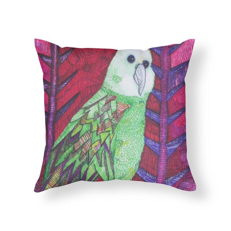 Michael the Parrot Home Throw Pillow by Studio Art 101's Art Shop
