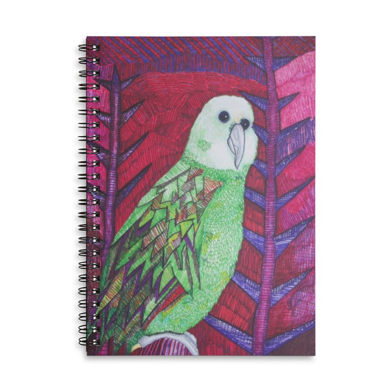 Michael the Parrot Accessories Lined Spiral Notebook by Studio Art 101's Art Shop