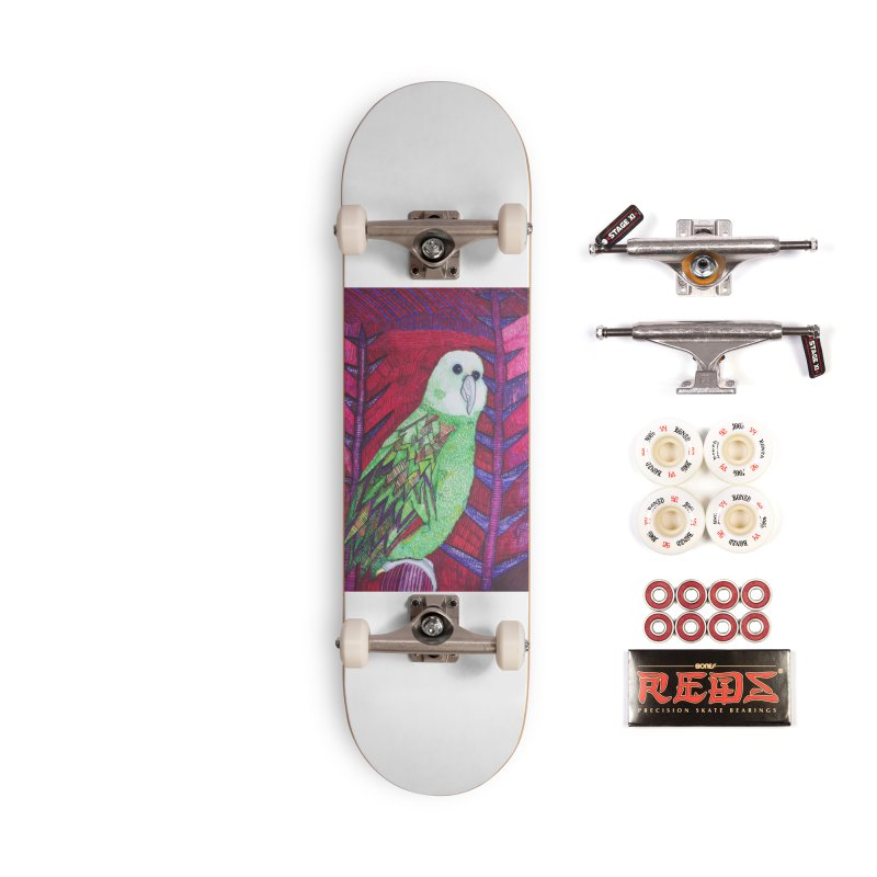 Michael the Parrot Accessories Complete - Pro Skateboard by Studio Art 101's Art Shop