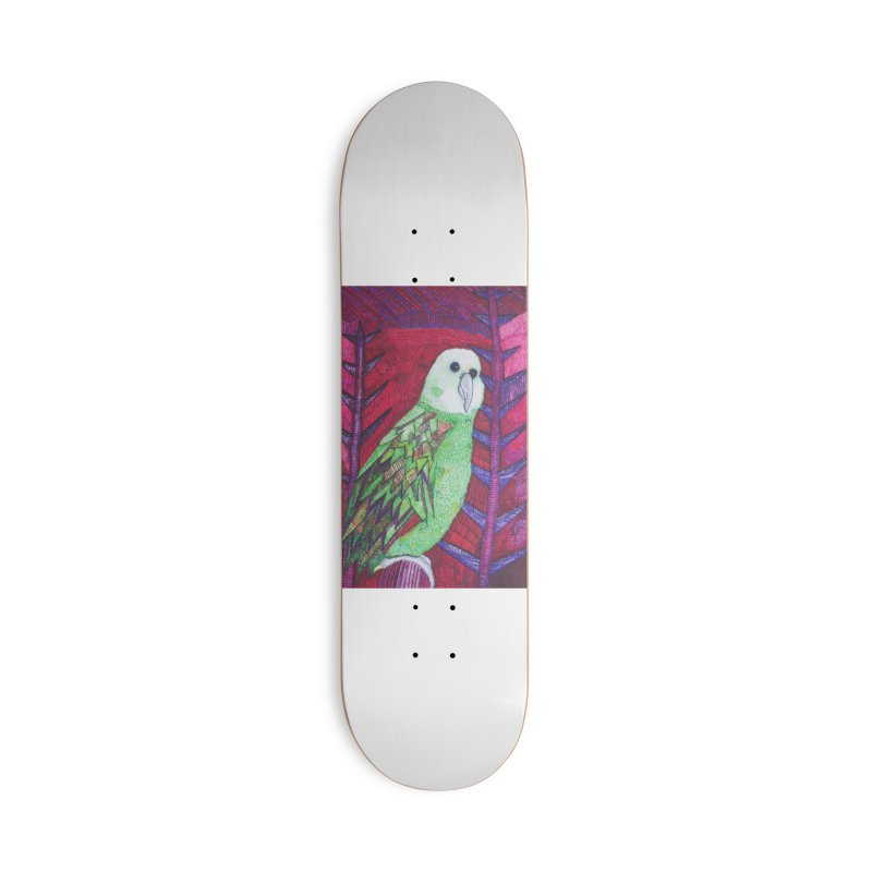 Michael the Parrot Accessories Deck Only Skateboard by Studio Art 101's Art Shop