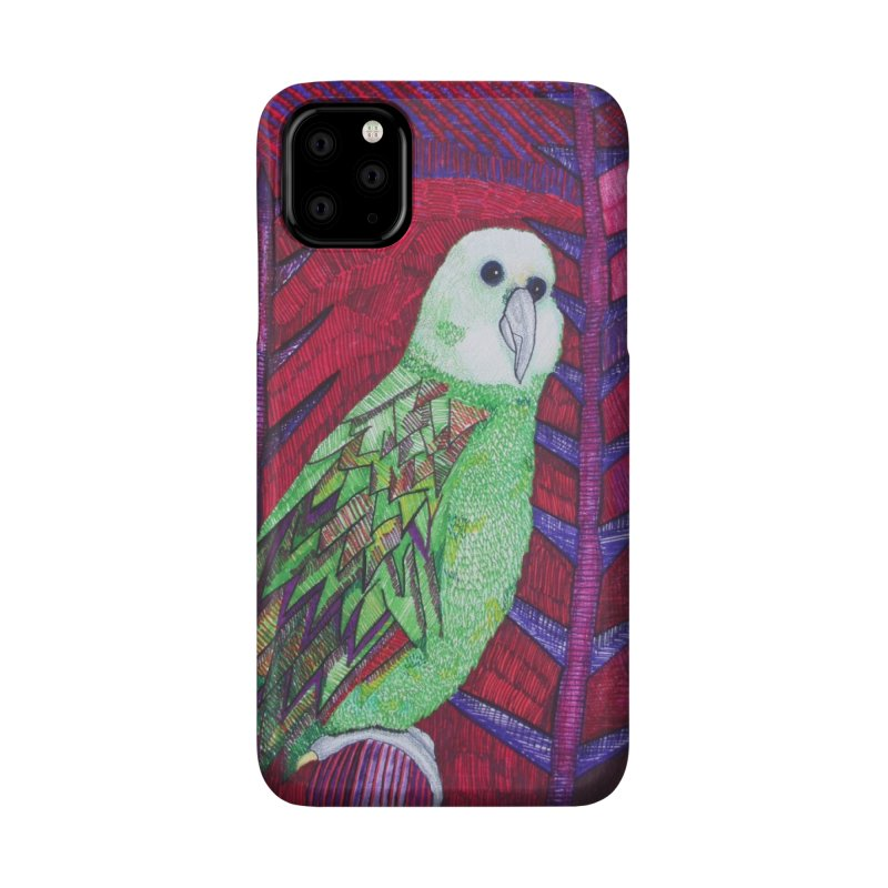 Michael the Parrot Accessories Phone Case by Studio Art 101's Art Shop