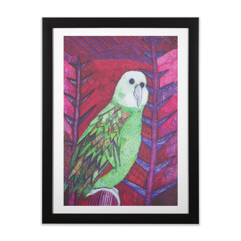 Michael the Parrot Home Framed Fine Art Print by Studio Art 101's Art Shop
