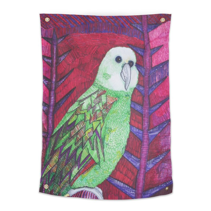 Michael the Parrot Home Tapestry by Studio Art 101's Art Shop