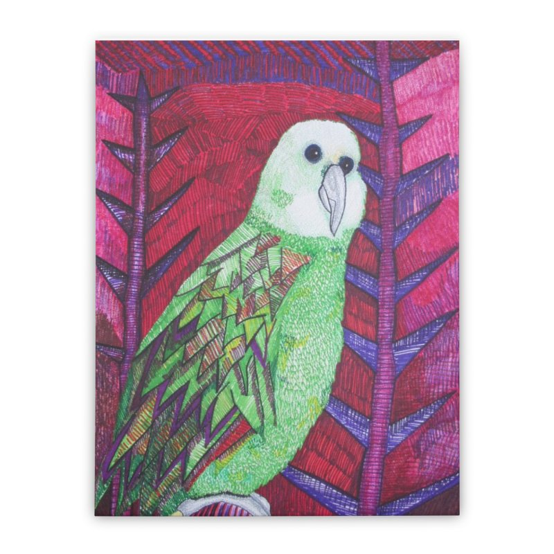Michael the Parrot Home Stretched Canvas by Studio Art 101's Art Shop