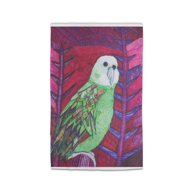 Michael the Parrot Home Rug by Studio Art 101's Art Shop