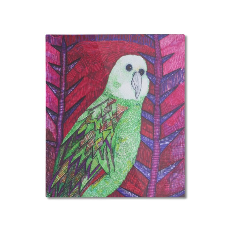 Michael the Parrot Home Mounted Aluminum Print by Studio Art 101's Art Shop