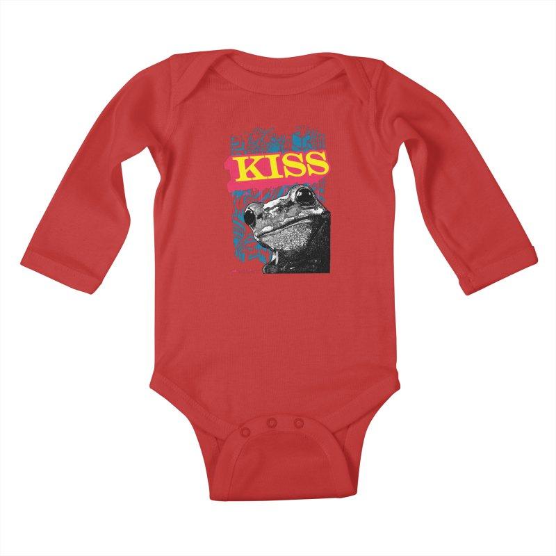 Kiss Kids Baby Longsleeve Bodysuit by StudioDaboo's Artist Shop
