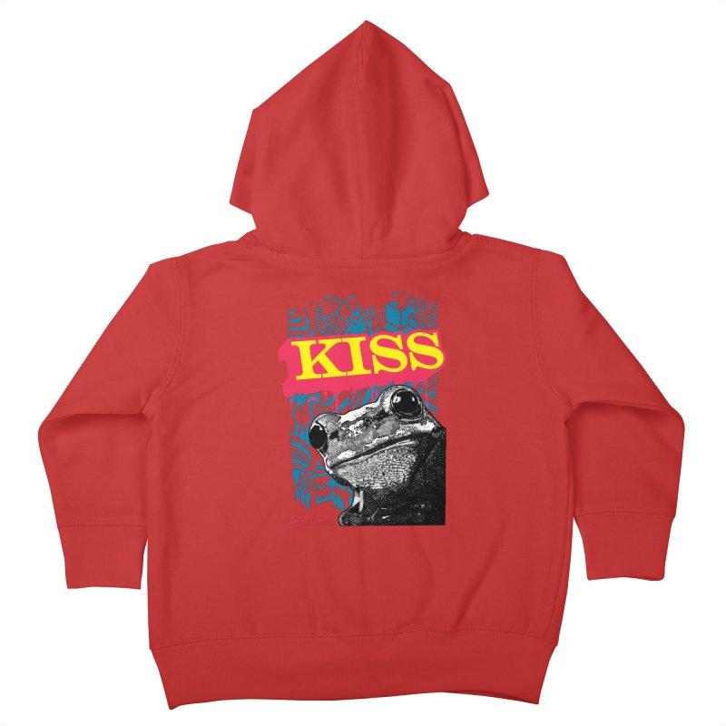 Kiss Kids Toddler Zip-Up Hoody by StudioDaboo's Artist Shop
