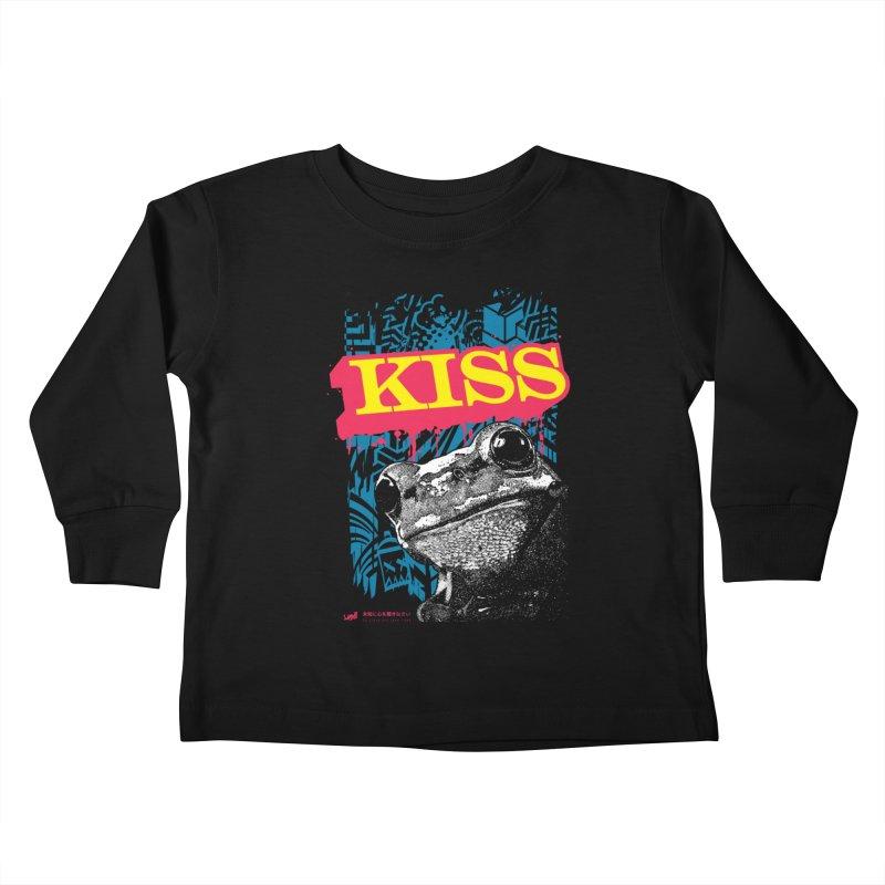 Kiss Kids Toddler Longsleeve T-Shirt by StudioDaboo's Artist Shop