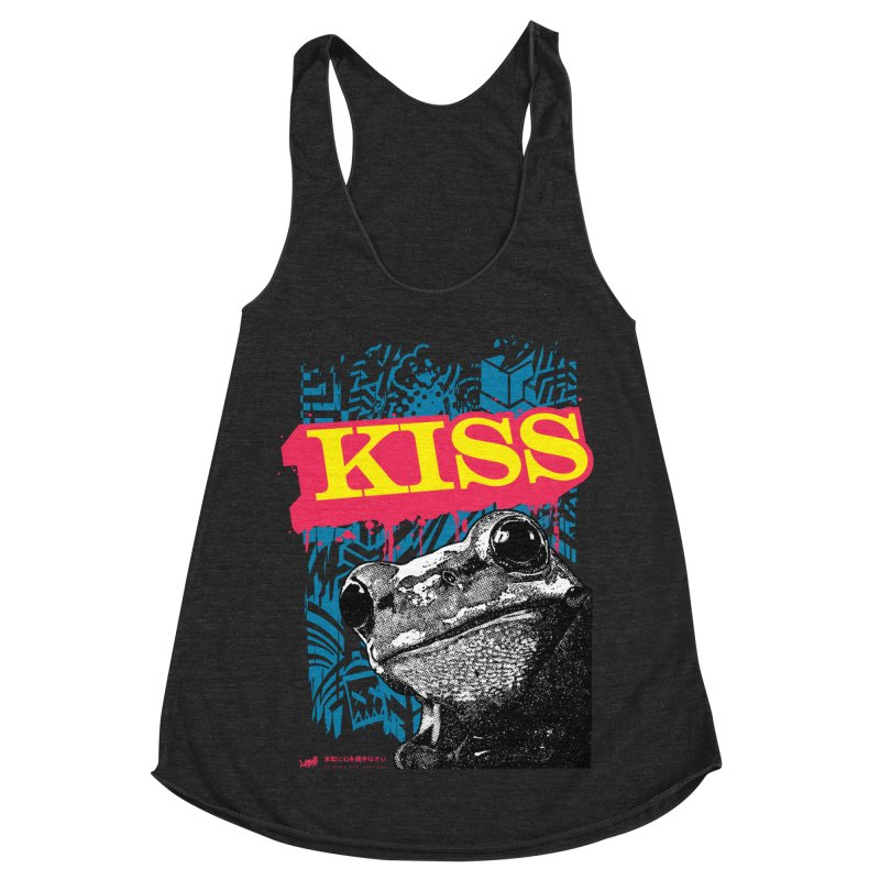 Kiss Women's Racerback Triblend Tank by StudioDaboo's Artist Shop