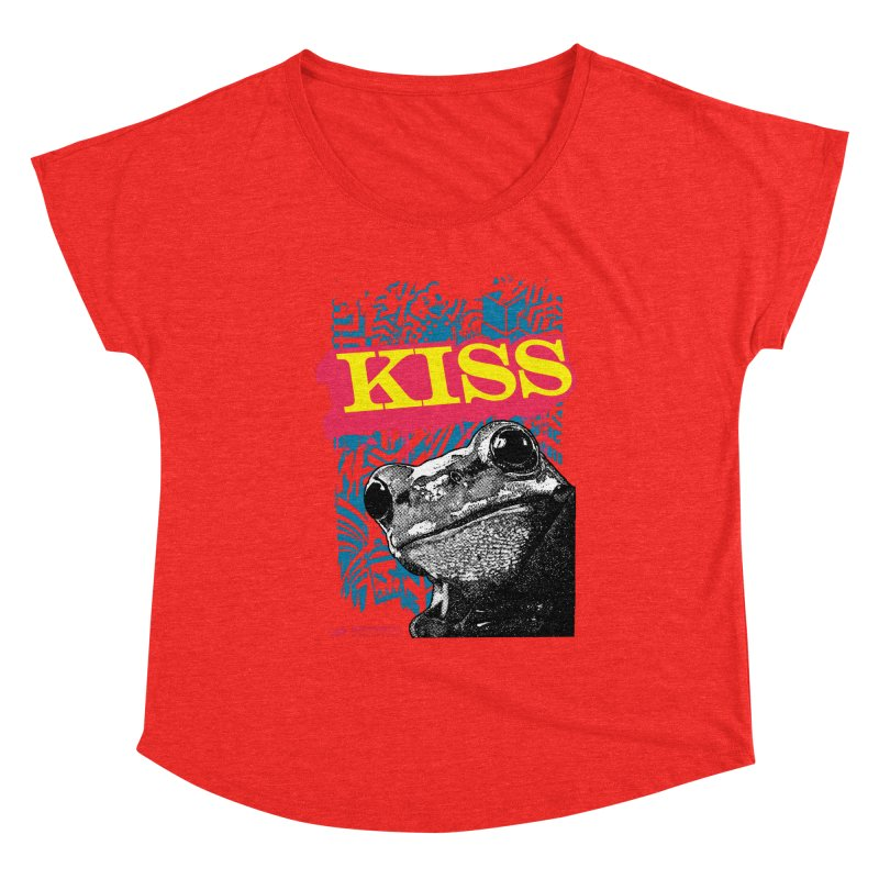 Kiss Women's Scoop Neck by StudioDaboo's Artist Shop