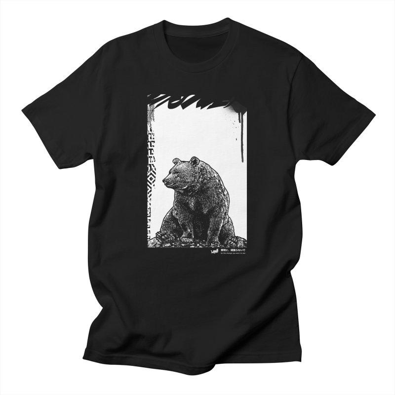 BEAR (Black&White) Men's T-Shirt by StudioDaboo's Artist Shop